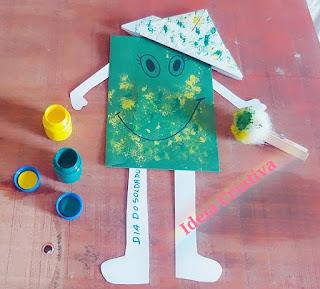 atividade educação infantil dia do soldado com pintura