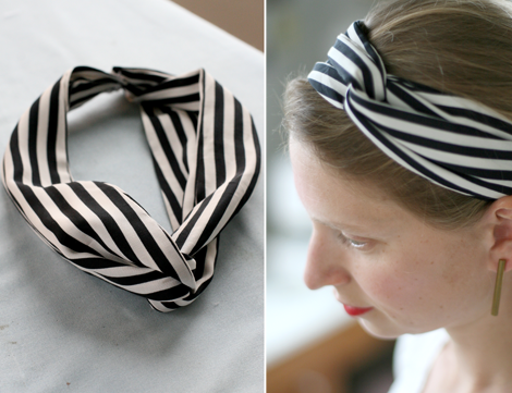 Como hacer una diadema cruzada y un turbante for Diademas de tela para el cabello