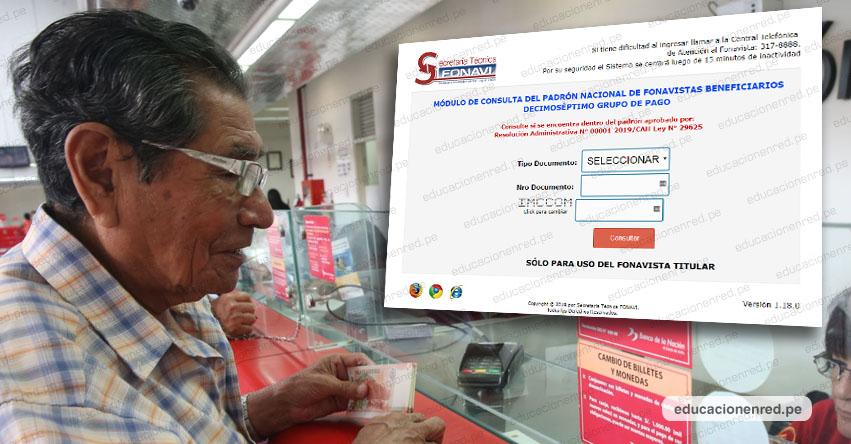 FONAVI: Consulta si eres parte de la lista 17 de beneficiarios. Hoy jueves puedes cobrar la devolución de tus aportes - www.fonavi-st.gob.pe