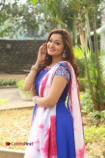 Actress Ashwini Stills in Blue Chudidar at Ameerpet Lo Release Press Meet  0178.JPG