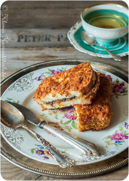 Knuspriges French Toast mit Orangen-Schokofüllung