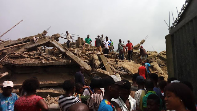 Just In: Uncompleted 3 Storey Building Collapsed On 5 Persons in Aba