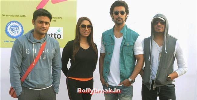 Manav Gohil, Pooja Mishra, Kunal Kapoor and Ali Quli, Pooja Misra at Femina Marathon-Run to Save The Girl Child