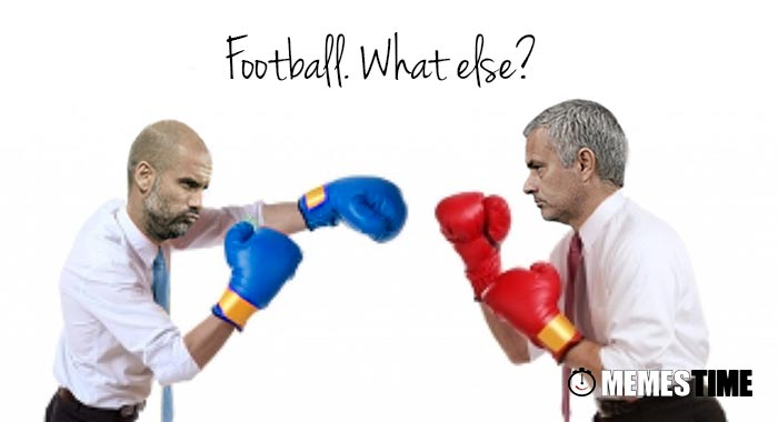 Memes Time - Derby Manchester United 1 x Manchester City 2 with José Mourinho & Pepe Guardiola - Football. What else?