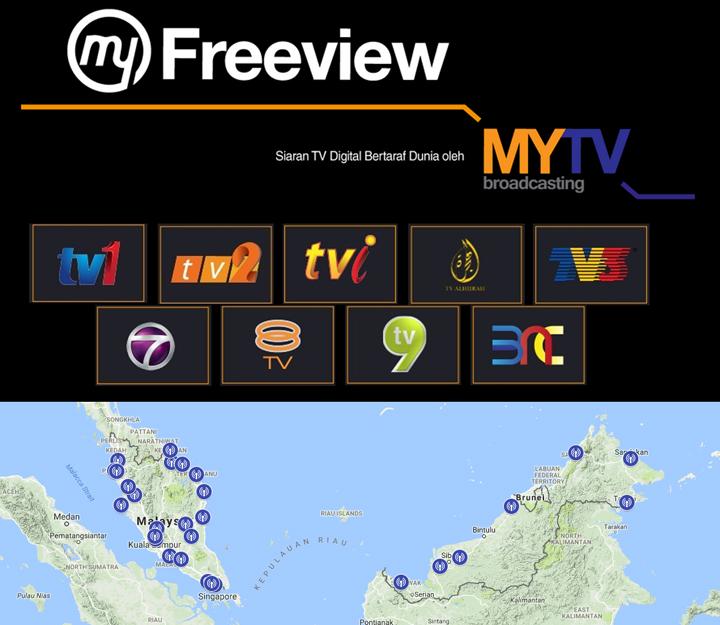 Senarai Kawasan Liputan MyFreeView TV