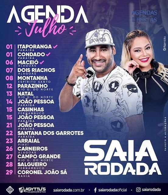 agenda de Show Saia Rodada 2017