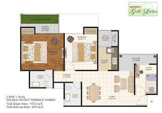 1072-sq.ft.-2bhk-study-floor-plan-Antriksh-Golf-link