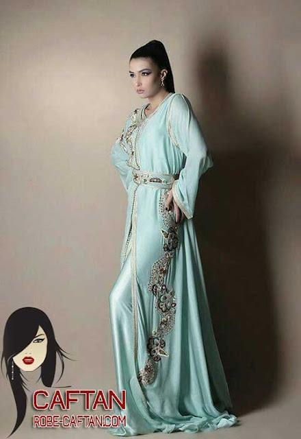 Caftan marocain / caftan brodé et couturé pour les attentes de 2017