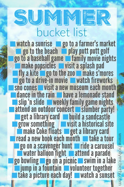 While I'm Waiting...Summer Bucket List