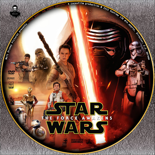 Label DVD Star Wars The Force Awakens