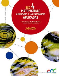 Libro Matemáticas Orientadas a las Enseñanzas Aplicadas 4º ESO Anaya Proyecto Aprender es Crecer