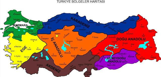 türkiyenin bölgeleri bilgi {featured}