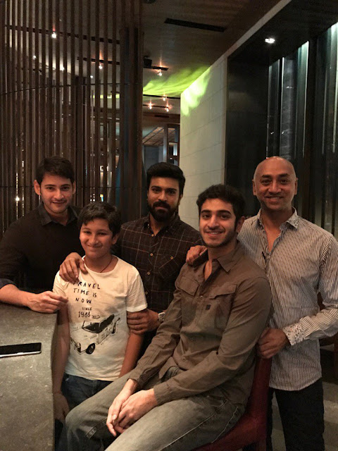 Ram Charan with Mahesh Babu family Photos