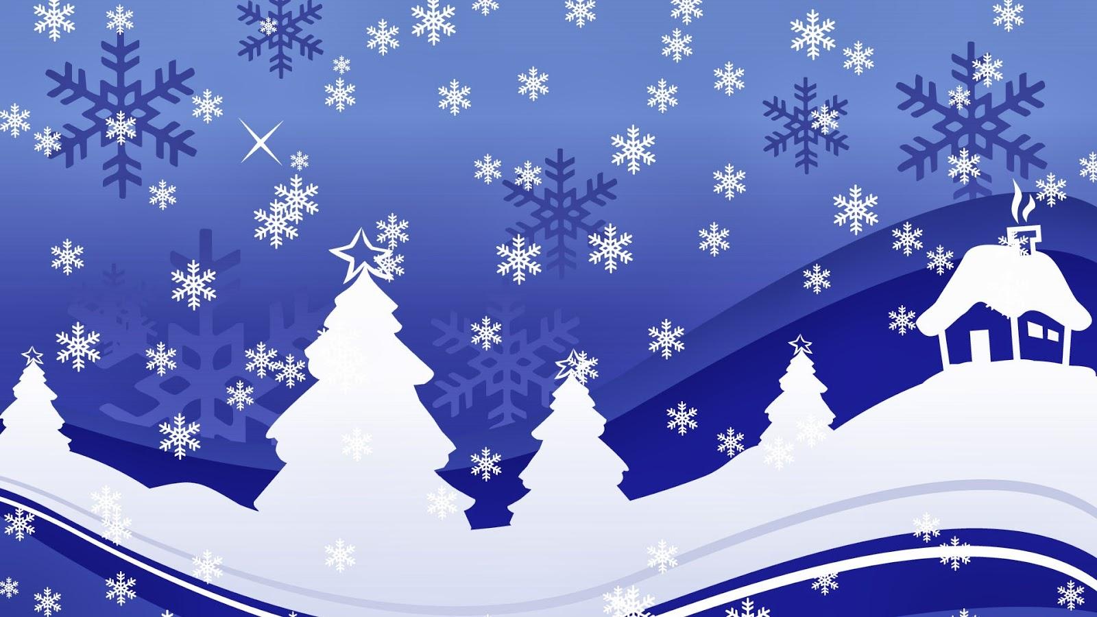 Fondo de Pantalla Navidad lluvia de copos de nieve | San Valentín ...