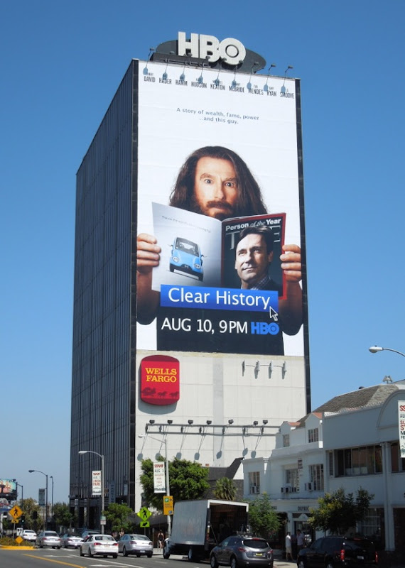 Giant Clear History HBO billboard Sunset Boulevard