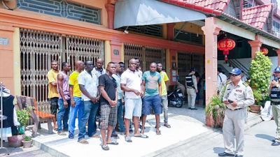 26 Nigerians Arrested By Immigration Police For Living, Working Illegally In Cambodia (photos)