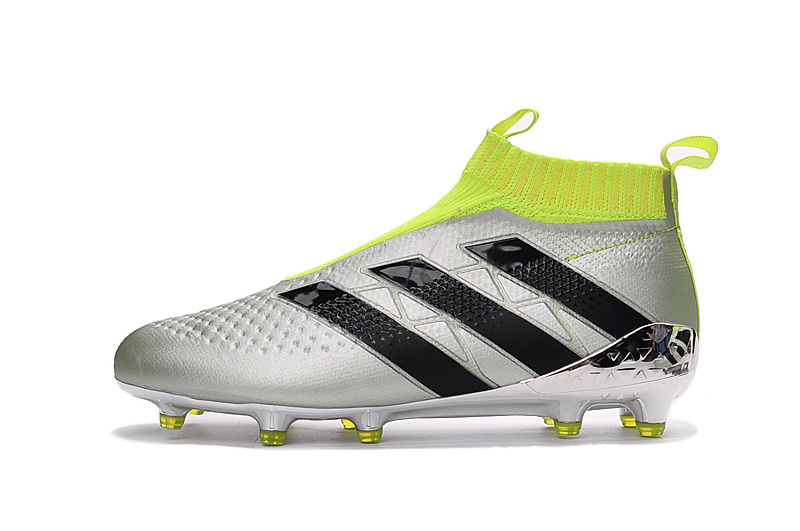 f86bca61252c3 The Adidas Ace PureControl Euro 2016 boots are predominantly silver, while  the collar, tongue area and pull tabs are colored in striking Solar Yellow.