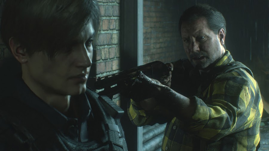 resident evil 2 remake leon kennedy robert kendo screens