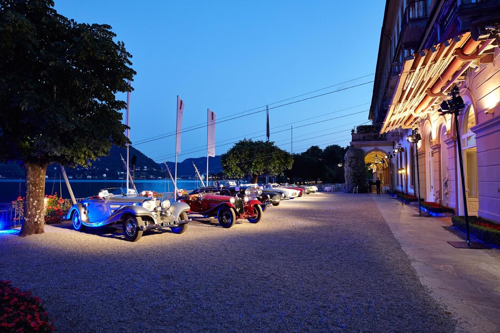 concorso deleganza v Καλλιστεία για ιστορικά αυτοκίνητα και κορυφαίες μοτοσυκλέτες στις όχθες της λίμνης Κόμο