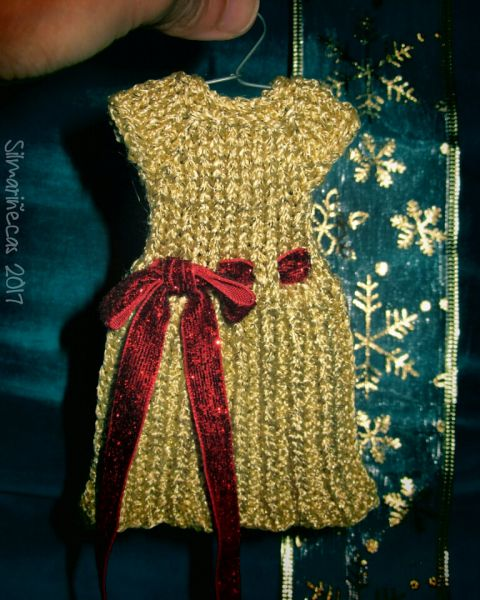 vestido tricotado para Caty Blythe