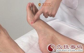 太白穴位 | 太白穴痛位置 - 穴道按摩經絡圖解 | Source:xueweitu.iiyun.com