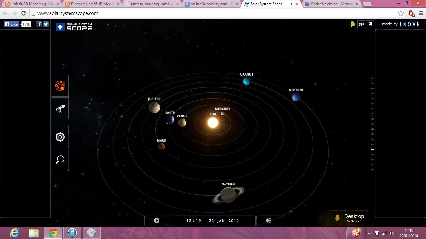 online 3d solar system explore - photo #2