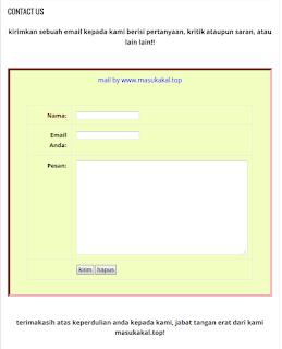 cara mudah membuat contact us sendiri pada blog - blog