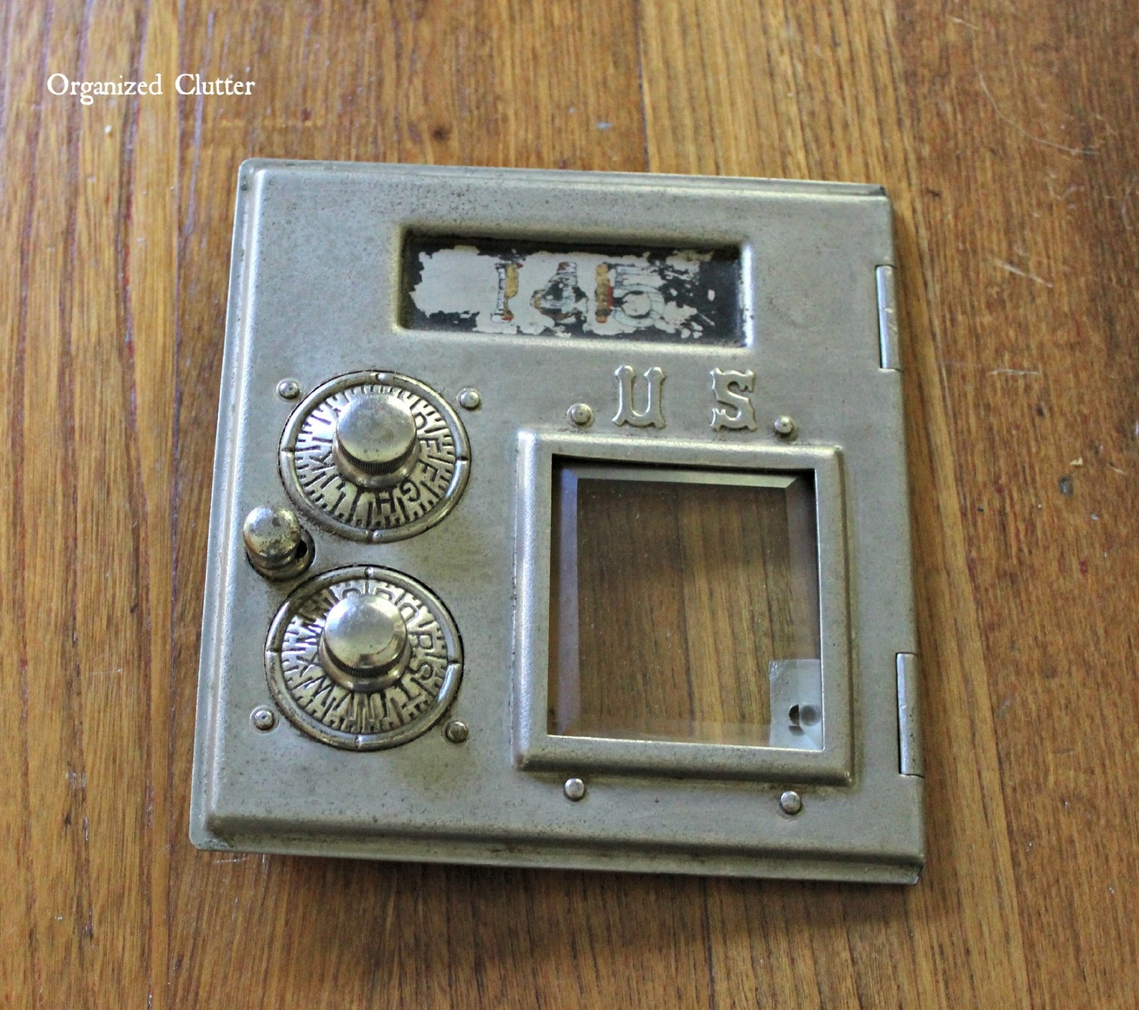 Vintage Post Office Box Picture Frame