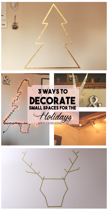 3 Ways to Decorate Small Spaces for the Holidays | as post on katielikme.com #decor #home