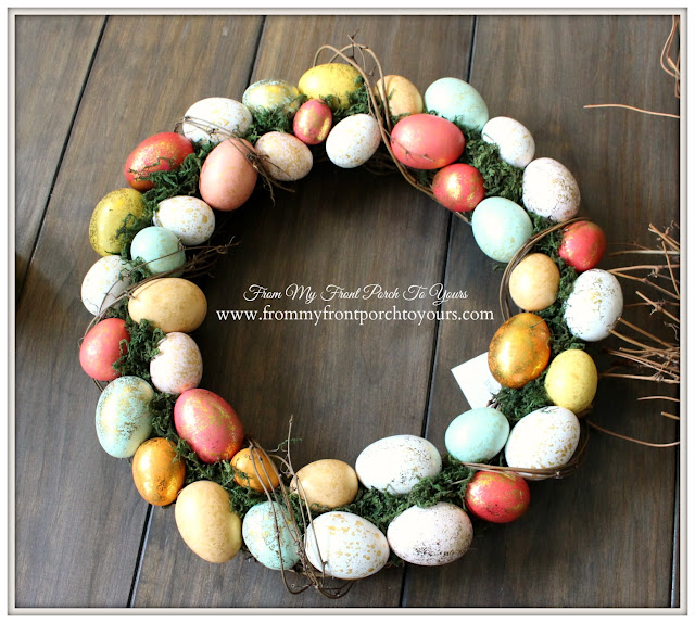 From My Front Porch To Yours- Easter Wreath-Egg Wreath-Target Wreath