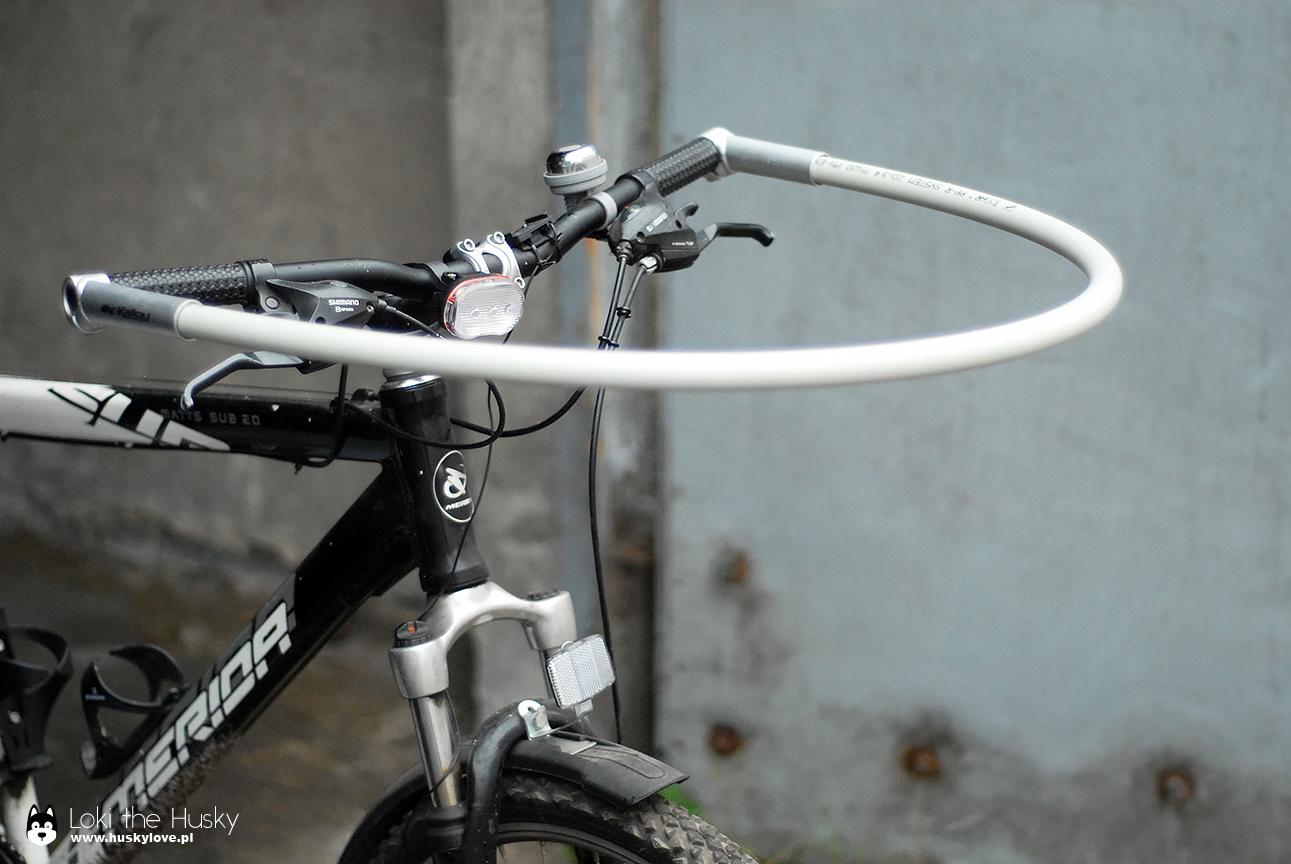 Rower z pałąkiem do bikejoringu