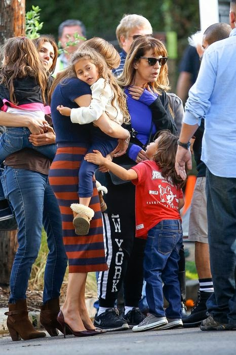 Children Jennifer Lopez visited her mother