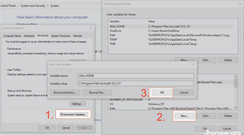 Menginstal Java di Windows 10 mengedit path environtment windows 10 jonarendra