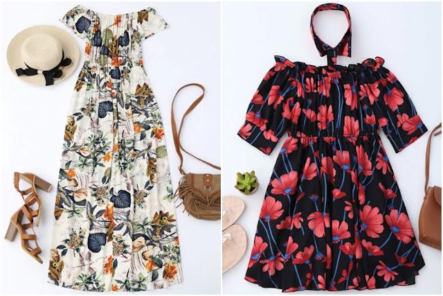 O charme dos vestidos com decote ombro a ombro