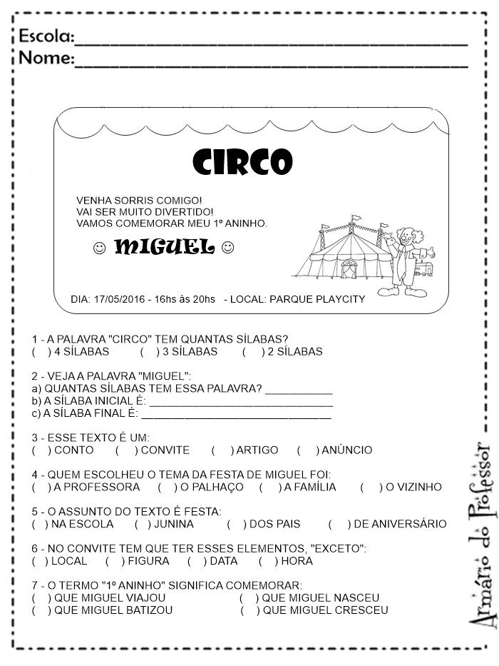 Well-known Sequência Didática - Gêneros Textuais com Atividades   Armário do  YD71
