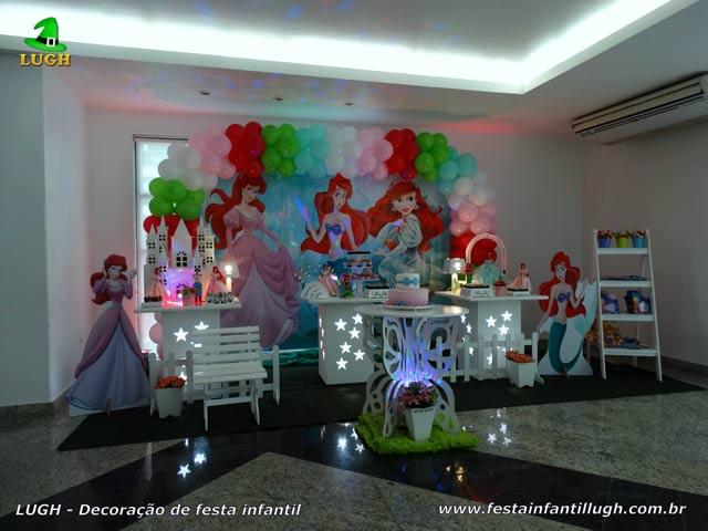 Decoração Princesa Ariel para festa infantil - mesa temática para aniversário feminino - Jacarepaguá-RJ