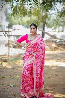 Anchor Rashmi gautam In Beautiful Traditional Pink Saree