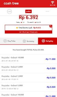 cashtree 002 Bukti pembayaran terbaru pulsa gratis dari Cashtree