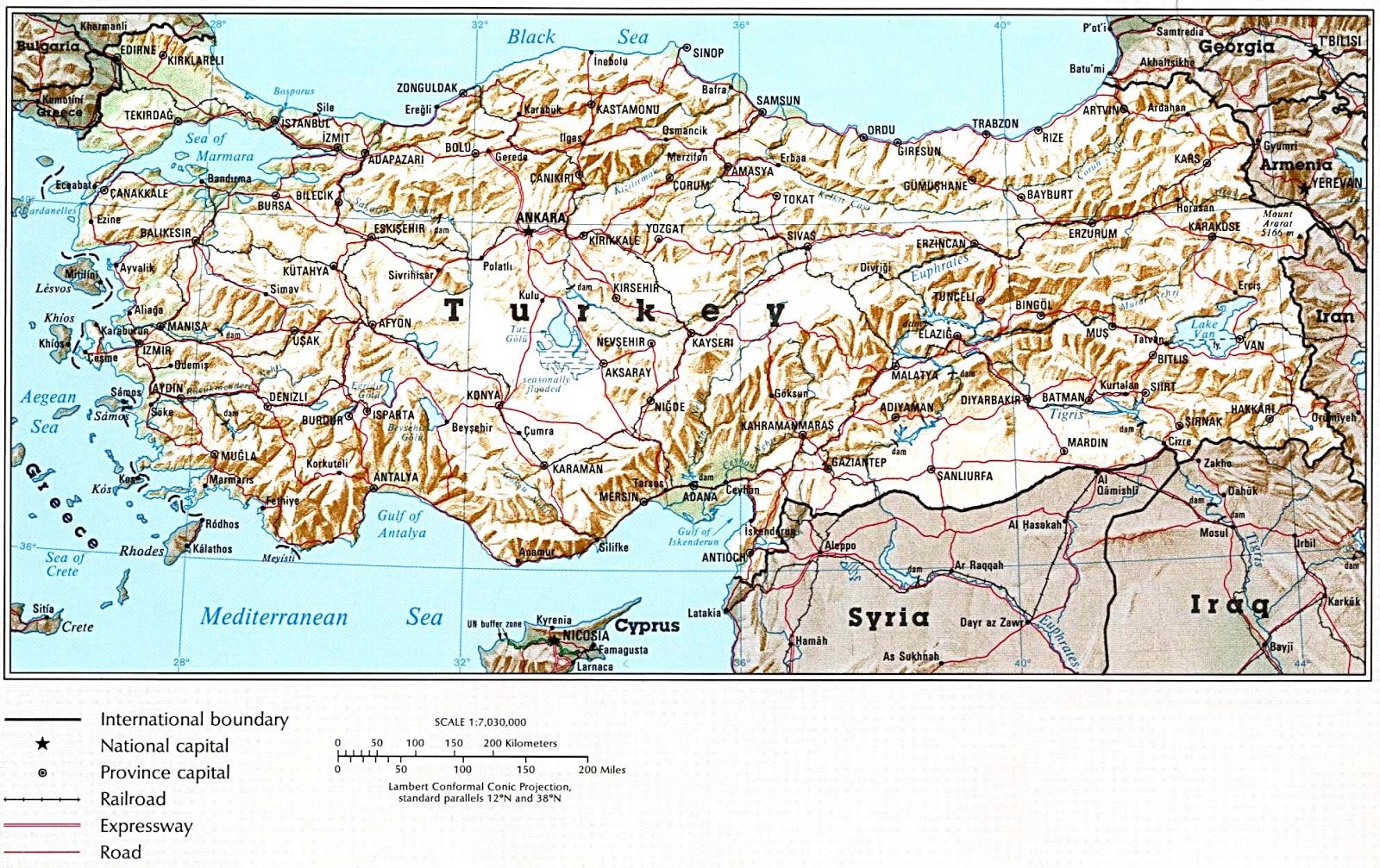 Turquia | Mapas Geográficos da Turquia