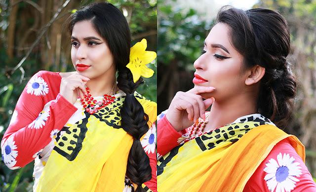 Pohela Boishakh Hairstyle Tutorial 2016