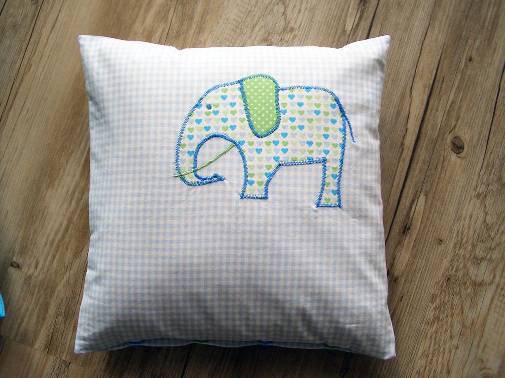 perlentis manu kissen mit elefant. Black Bedroom Furniture Sets. Home Design Ideas