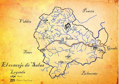 Mapa del concejo de Salas