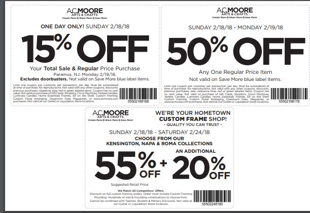 Ac Moore Coupon 50 Off One Item | WoodWorking