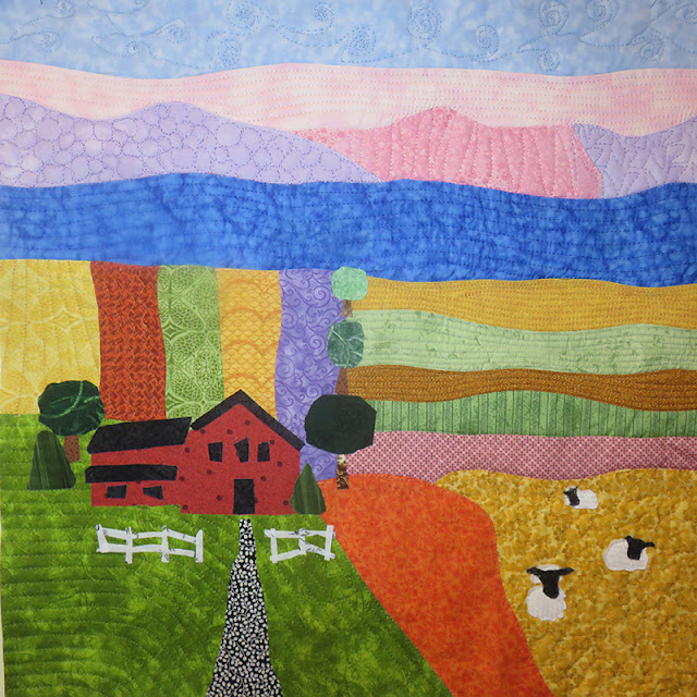 Abstract Farm Quilt by Mary Elizabeth O'Toole