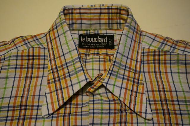 branchouille des années 70  chemise Le Bouclard   beagle penny  collar shirt