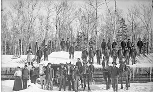 old photos of Maine Logging Camps