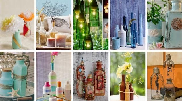 Κατασκευές-Διακοσμήσεις με Γυάλινα Μπουκάλια