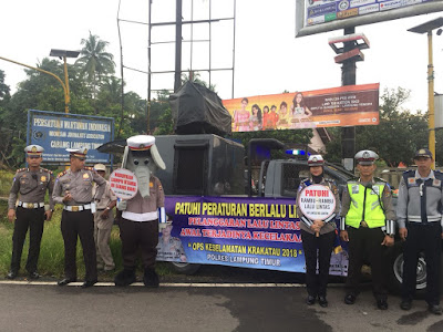 Sat Lantas Polres Lamtim Kampanye Keselamatan Berkendara