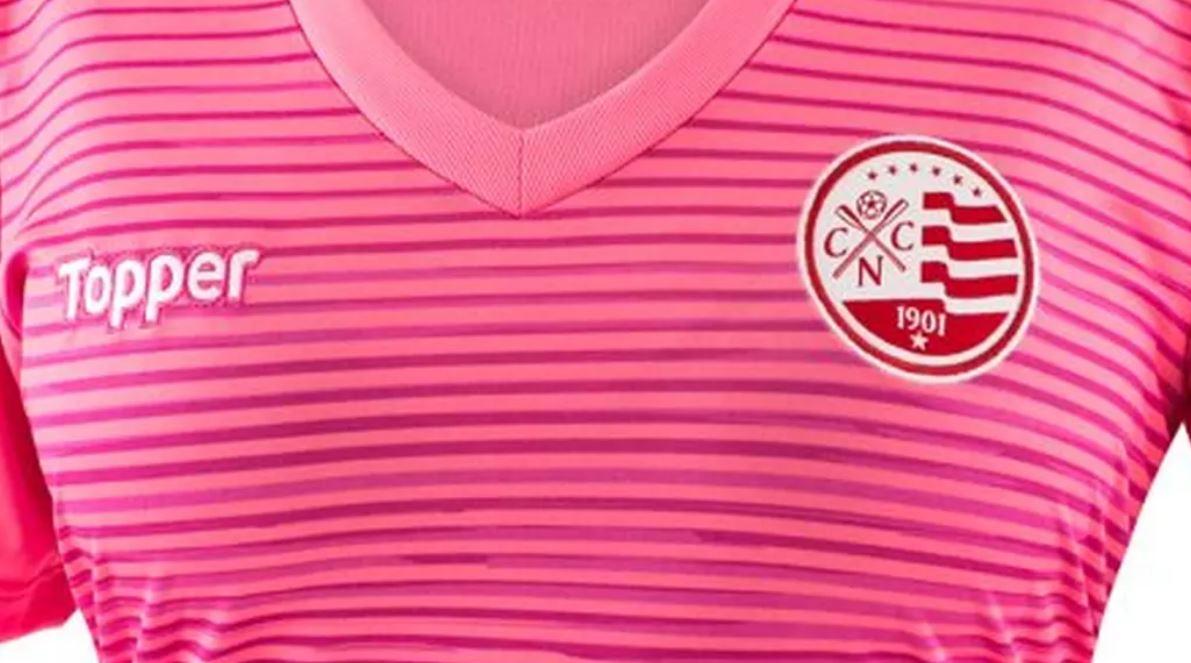 3855f19b71 Náutico lança camisa toda rosa em apoio ao