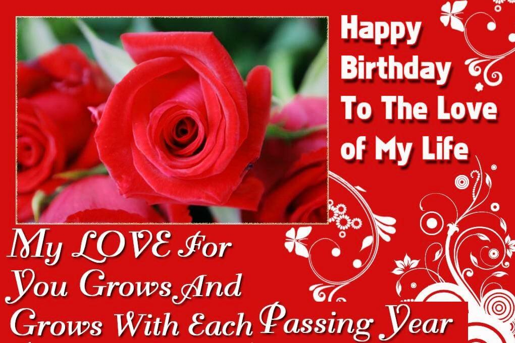 Happy Birthday To My Love Images Wishes For Lover